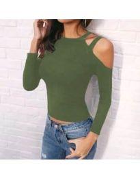 Дамска блуза в зелено - код 952