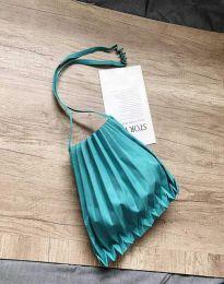 Ефектна дамска чанта в цвят тюркоаз - код B521