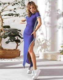 Дамска рокля в лилаво с цепка - код 0715