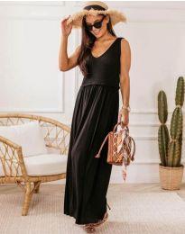 Дълга дамска рокля в черно - код 5261