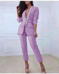Комплект от сако и панталон в лилаво - код 813