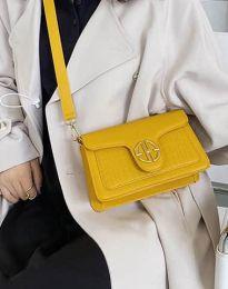 Дамска чанта в цвят горчица - код B424