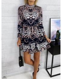 Дамска рокля с ефектен десен - код 7272 - 1