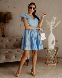 Дамска рокля в светлосиньо - код 6224