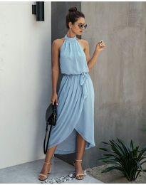 Свободна рокля в светло синьо - код 100