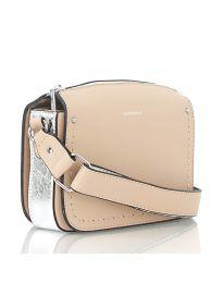 Дамска чанта в цвят праскова - код D8507
