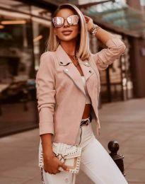 Елегантно дамско яке в светлорозово - код 7759