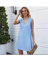 Свободна изчистена рокля в светло синьо - код 1429