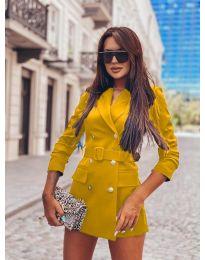 Дамско елегантно сако в цвят горчица - код 834