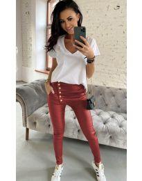 Дамски панталон в бордо - код 954