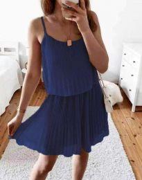 Атрактивна дамска рокля в тъмносиньо - код 8596