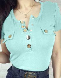 Дамска блуза в светлосиньо - код 3748