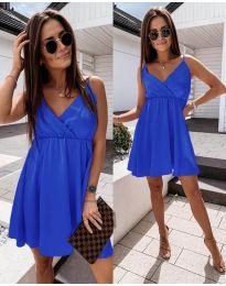 Елегантна рокля в синьо  - код 1000