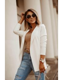 Дамско сако в бяло - код 2900