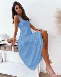 Дълга дамска рокля в светлосиньо - код 4807