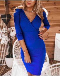 Дамска рокля в синьо - код 956