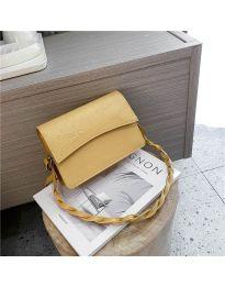 Дамска чанта в цвят горчица - код B36/7787
