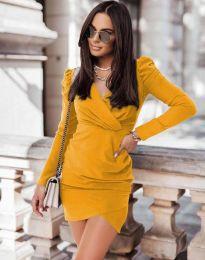 Дамска рокля в цвят горчица - код 0951