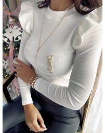 Изчистена дамска блуза в бяло - код 0142