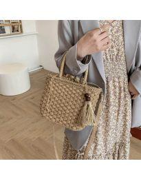 Ефектна дамска чанта в капучино - код B536