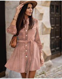 Дамска рокля в розово - код 3999