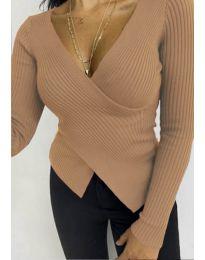 Дамска блуза в кафяво - код 6322