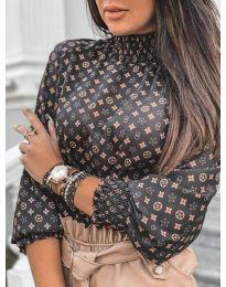 Дамска елегантна блуза с ефектен десен - код 611 - 4