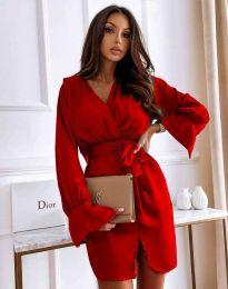Елегантна рокля в червено - код 2741