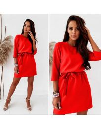 Елегантна дамска рокля в червено - код 778