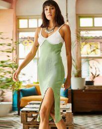 Ефектна дамска рокля в светлозелено - код 1036 - 4