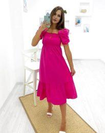 Дамска рокля в цвят циклама - код 3283