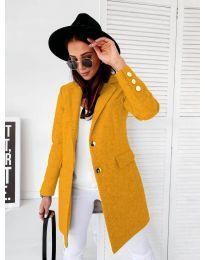 Дамско палто в цвят горчица - код 1514