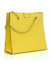 Дамска изчистена чанта в жълто - LS591