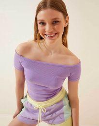 Дамска тениска в лилаво - 13010