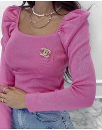 Дамска блуза в розово - код 2180