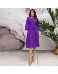 Елегантна рокля в лилаво - код 4571
