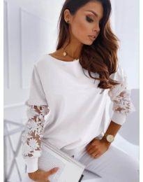Елегантна дамска блуза в бяло  - код 4426
