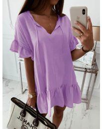 Свободна рокля в лилаво - код 559