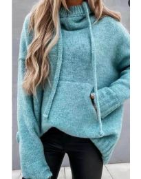 Дамски пуловер в цвят мента - код 7333