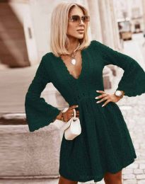 Елегантна рокля в тъмнозелено - код 6239