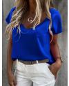 Дамска тениска в синьо - код 0589