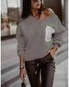 Дамска блуза в тъмно сиво - код 904