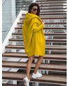 Дълга плетена жилетка в цвят горчица - код 053