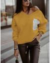 Дамска блуза в цвят горчица - код 904