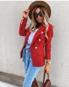 Елегантно дамско сако в червено - код 4141