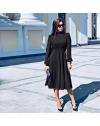 Изчистена дълга рокля в черно - код 4572