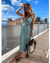 Елегантна рокля в тюркоаз - код 547