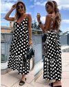 Дълга атрактивна рокля в черно - 8192