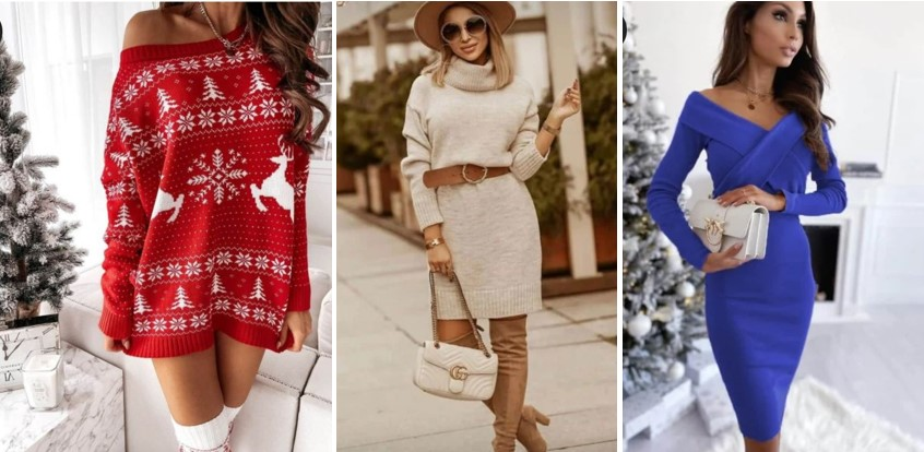 Стилове зимни рокли